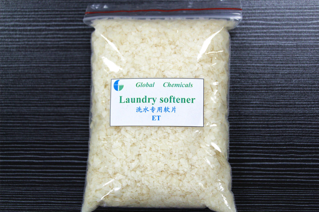 Textile Auxiliaries Weak Cationic Softener Flakes For Washing Plant