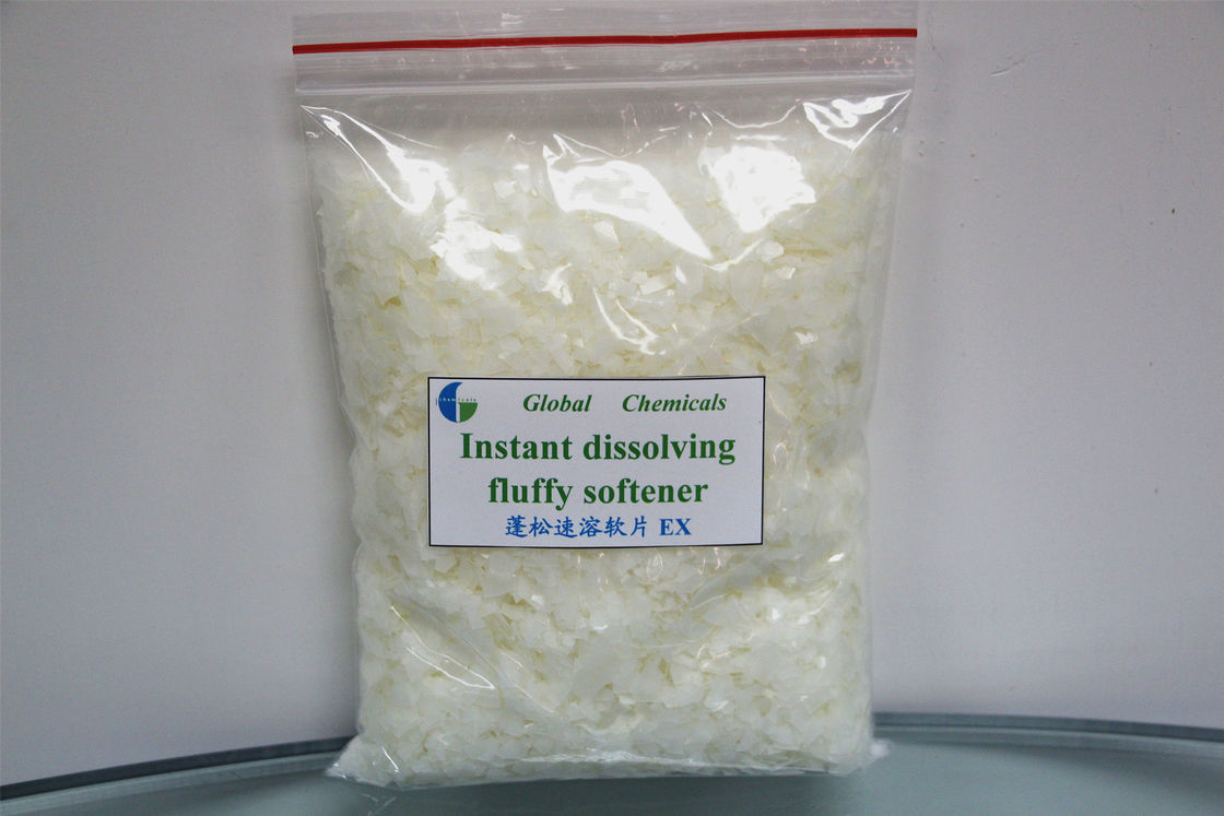 Instant Dissolving Fluffy Softener Flakes Cold Water Type , Weak Cationic