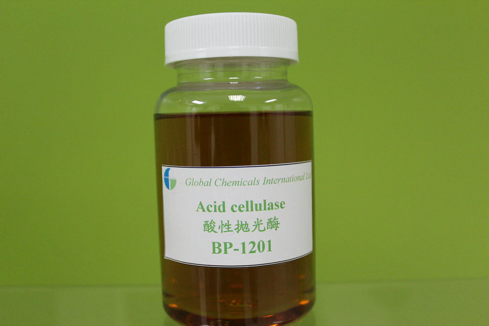 Bio-polishing Enzyme , Acid Cellulases Textile Liquid Enzyme For Blended Fabric
